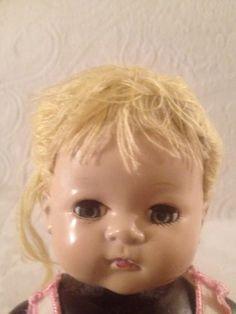 Sparkle-Plenty-Baby-Doll-Dick-Tracy-Ideal-Vintage-1947-Magic-Skin-Rough-Body