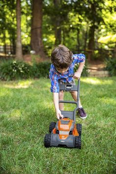Husqvarna toy lawn mower. Perfect for your little future landscaper!