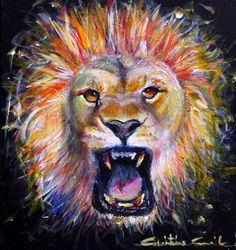 In order to soar you must be willing to roar. It takes courage to make changes. To get the courage all it takes is the power to believe. Lion And Lamb, Feeling Weak, Prophetic Art, Worship, Believe, Winter Season, Painting, Animals, Warriors