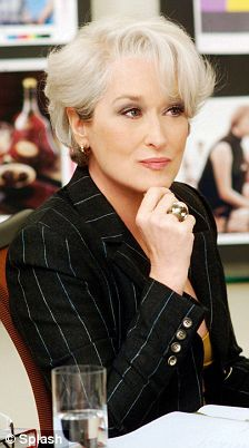 Meryl Streep -- Devil Wears Prada, and does she ever. Hot Meryl. Hot, hot, hot.