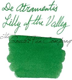 Fountain Pen Ink Sample | De Atramentis Scented Ink - Lilly of the Valley | GouletPens.com