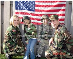 Image detail for -Army Birthday Party...take pictures of guests in front of big American flag