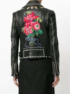Gucci Studded Biker Jacket - Farfetch