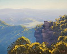 Blue Mountains nsw by artsaus. Paintings by Graham Gercken (artaus on deviantART) are all in Oil on linen canvas using both brush and palette knife.
