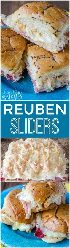 Reuben Sliders Recipe -YUM- FamilyFreshMeals.com