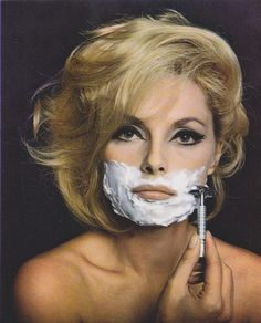 Michelle Pfeiffer - This pic is hilarious, but I love the eye makeup!
