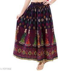 Checkout this latest Skirts Product Name: *Fancy Cotton Long Skirt* Sizes:  34, 36, 38, 40, 42, 44, Free Size Country of Origin: India Easy Returns Available In Case Of Any Issue   Catalog Rating: ★4.1 (460)  Catalog Name: Ladies Fancy Cotton Printed Long Skirts Vol 3 CatalogID_131103 C74-SC1013 Code: 193-1071362-579