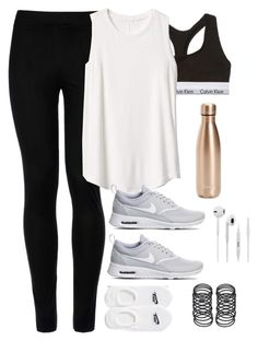 """""""OOTD 9.24"""" by magsmccray ❤ liked on Polyvore featuring Calvin Klein Underwear, Wolford, Gap, NIKE and S'well"""