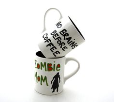 Funny Zombie Mug Zombie Mom Great for a baby shower by LennyMud, $16.00
