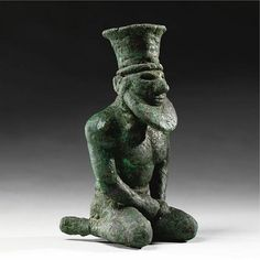 Figura sumeria de cobre de una deidad, Uruk IV 3300-3100 A.C. Museo Metropolitano