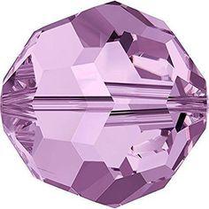 5000 Swarovski Crystal Beads Round Light Amethyst-Swarovski Beads-4mm - Pack of 25-Bluestreak Crystals