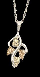 Black Hills Gold Leaf Necklace