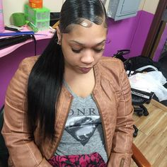 Beautiful Hairstyles With The Ponytail For Restyling - Best Kids Hairstyle Black Ponytail Hairstyles, Black Girls Hairstyles, Weave Hairstyles, Pretty Hairstyles, Gel Hairstyles, Kids Hairstyle, School Hairstyles, Hair Updo, Protective Hairstyles