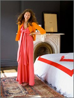 Jenna Lyons - orange and salmon
