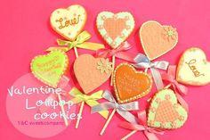 Valentine lollipop cookies