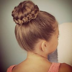 Cute girls hairstyles lace bun if only I could figure out how to make the stupid sock bun work for my hair!!