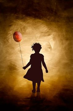 A girl and her balloon by Cilest, via Flickr