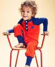 Jumpsuit Balder Playsuit Red with Blue