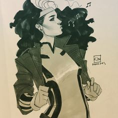 90s big hair Rogue by Kevin Wada