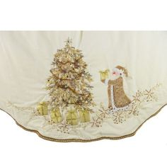 "56"" Velvet Ivory Tree Skirt with Gold Santa Design Seasons Designs,http://www.amazon.com/dp/B005XP0L10/ref=cm_sw_r_pi_dp_8Vrltb0EG0FQV1HE"