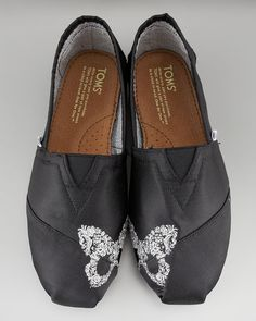 Toms Black Touchtoe Butterfly Slipon