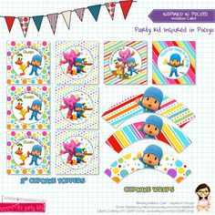 POCOYO Birthday Party - POCOYO Birthday Decoration - Printable - by EZ Party Kits on Etsy, $273.60