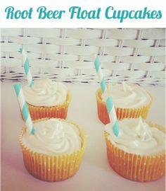 Vanilla Root Beer Float Cupcakes