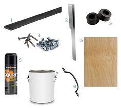 DIY Mini Barn Door Supplies and Hardware!!