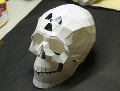 頭蓋骨のペーパークラフト skull papercraft skull art