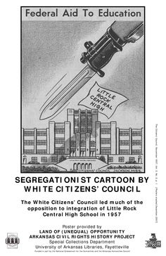 SEGREGATIONIST CARTOON BY WHITE CITIZENS COUNCIL