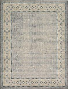 Luxury Vintage Persian Design Khatoon Rug Beige 10' x 13' St.George Collection Area Rugs