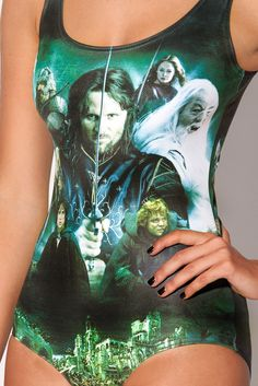 A LOTR swimsuit. Are you kidding me? Fantastic!