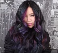 ... the oil spill style transcends raven locks. This look can be achieved by adding cool tones (purples, blues, forest greens) over dark hair for a subtle, ...