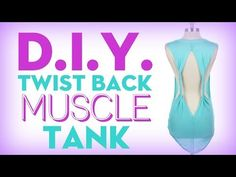 No-sew, DIY twisted-back muscle tank from a T-shirt