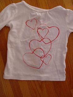 Diy Heart Shirt.