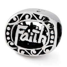 Sterling Reflections Faith Bead