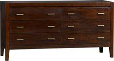 "Dawson 6-Drawer Dresser    $1199 - Crate and Barrel Dawson Six-Drawer Dresser. 60""Wx20""Dx31""H"