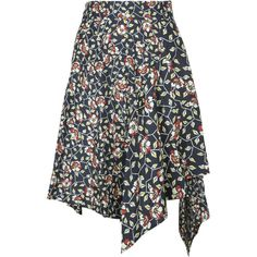 Asymmetric Floral Print Skirt ($414) ❤ liked on Polyvore featuring skirts, multicolor, womenclothingskirts, floral printed skirt, isabel marant skirt, asymmetrical skirt, multi color skirt and flower print skirt