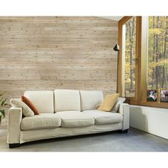 Design Innovations Reversible 3.5-in x 8-ft Natural Cedar Wall Plank ...