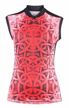 Women s Athletic Apparel  Celtic Dragon Sleeveless Tri-pocket Jersey-red - Womens  Cycling Tops and Sports Clothes 2663a7ddd