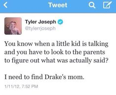 I love Tyler so much because he's such a sweet boy, but when he doesn't like someone, he lets them know.
