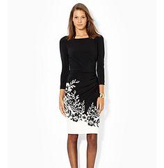 Lauren Ralph Lauren® Floral Hem Bateau Dress at www.younkers.com