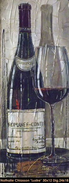 Nathalie Chiasson multi-medium painting on canevas #nathaliechiasson #art #artist #canadianartist #quebecartist #fineart #figurativeart #originalpainting #acrylicpainting #wine #glass #multiartltee #balcondart