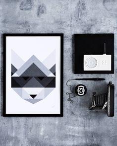 """Raccoon"" poster via Silke Bonde Graphic Design."