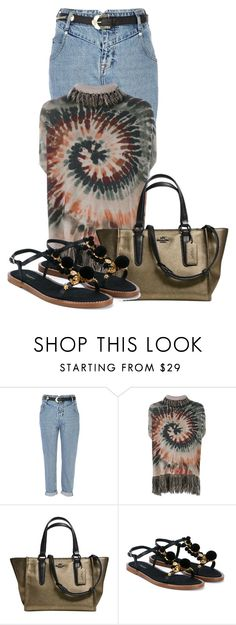 """""""Untitled #16765"""" by nanette-253 ❤ liked on Polyvore featuring River Island, Valentino, Coach and Dolce&Gabbana"""