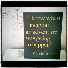 $19.95 - 11inch x 14inch Winnie the Pooh Quote on Canvas. ADORABLE.