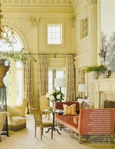 "Barry Dixon designed Bill & Karyn Frist's 1920s Nashville estate. Featured in Veranda Oct 2011 ""Beyond Classic"" article"