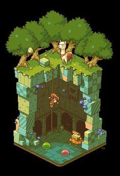 2,5 D games, spelletjes die je een illusie geven van een derde dimensie, maar niet vrij om heen kant bewegen.