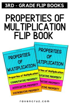 Are you teaching your students the properties of multiplication? This flip book covers commutative, associative, and distributive properties of multiplication. The flip books are good in interactive notebooks or for reference. #mathwithraven Distributive Property Of Multiplication, Commutative Property, Properties Of Multiplication, Multiplication Strategies, Math Notebooks, Interactive Notebooks, Math Resources, Math Activities, Common Core Math Standards