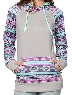 Hooded Aztec Sweatshirt